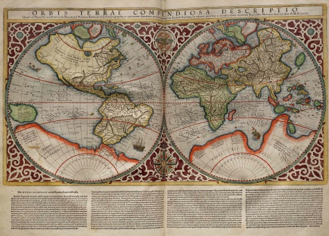 Large Mercator Map ORBIS TERRAE COMPENDIOSA DESCRIPTO